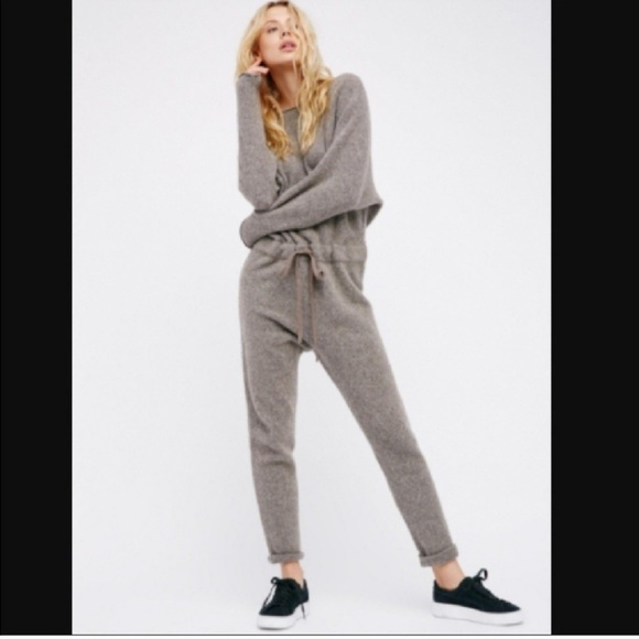 6f12c365ed5 Free People Pants - Free People Grey Dolman sleeve jumpsuit